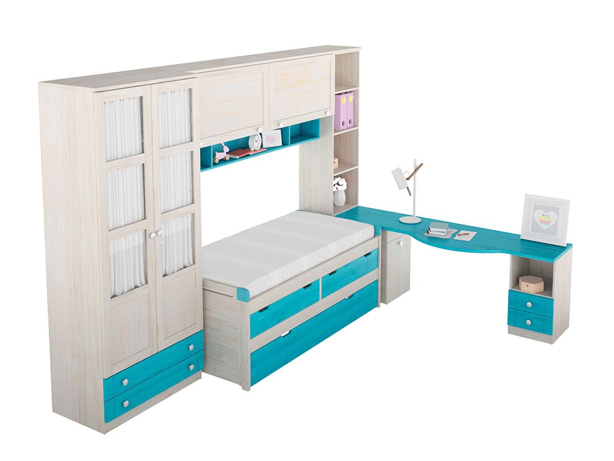 Composici n 45a juvenil dormitorio apilable gruposeys for Composicion dormitorio juvenil